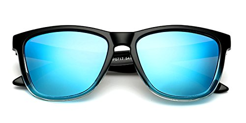Slocyclub Mens Classic Horn Rimmed Classic Colorful Shadow Polarized ()