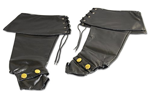 [Deluxe Adult Black Vinyl Boot Covers,Black,One Size] (Pirate Costumes Boot Covers)