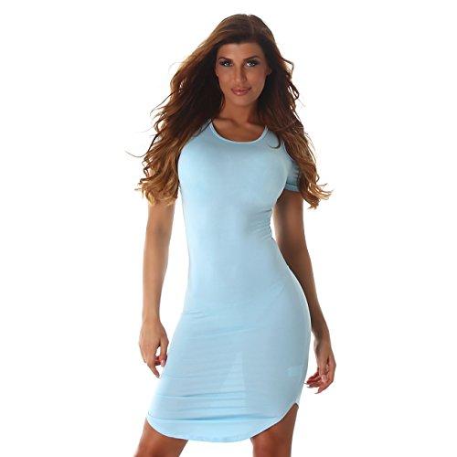 Voyelles - Vestido - Estuche - Manga corta - para mujer turquesa