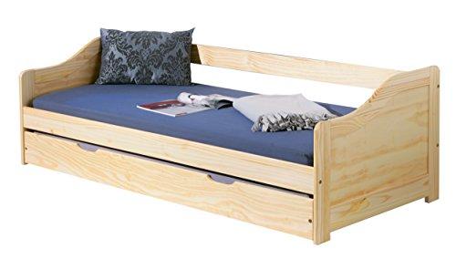Links 30500205 Bett 90x190 cm Kinderbett Funktionsbett Sofabett Massivholzbett Gästebett natur