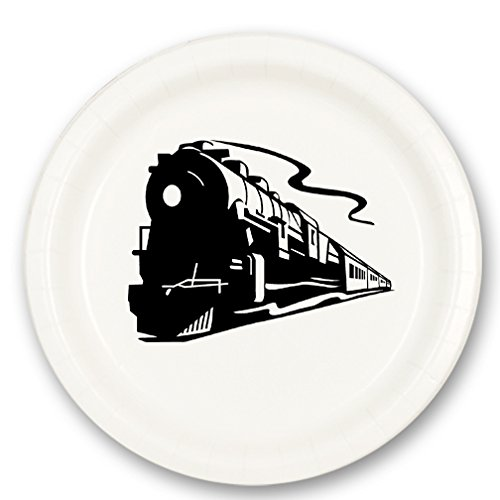 STEAM TRAIN DESSERT PLATE (8/Pkg) (Steam Plate Train)