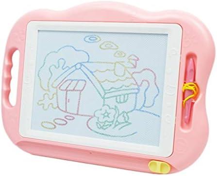 マジックライターマグネット製図板、大型キッズ磁気イーゼル、カラフルマグナいたずら書き手書きパッド、46 * 34センチメートル、ピンク (Color : Pink)