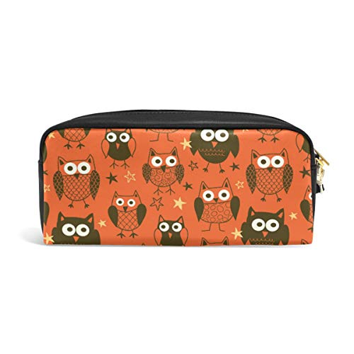 Pencil Case Big Capacity Pencil Bag Makeup Pen Pouch Halloween Owls Pattern Durable Students Stationery Pen Holder for -