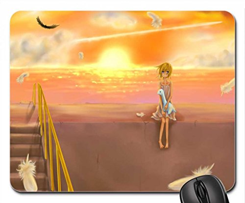 Air TV Mouse Pad, Mousepad (10.2 x 8.3 x 0.12 inches) (Anime With Blonde Hair And Blue Eyes)