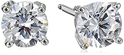 Sterling Silver Round Cubic Zirconia Classic Stud Earrings Review