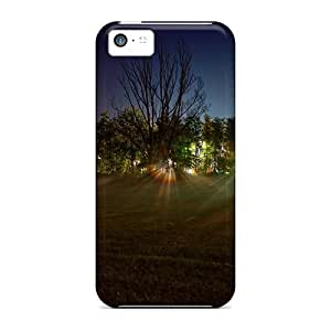 For ConnieJCole Iphone Protective Case, High Quality For Iphone 5c Light Beams Landscape Skin Case Cover