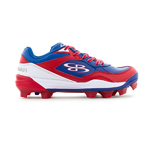 Boombah Women's Endura Molded Cleats Royal Blue/Red - Size 8.5 by Boombah
