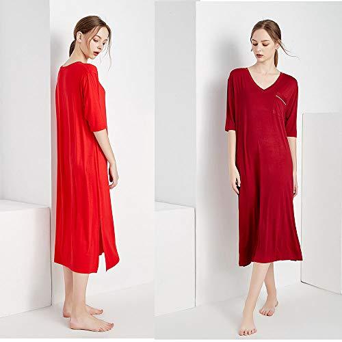 Pijamas Corta Clothing Chica Manga Ropa Hogar Red De Verano Gorda Tamaño Modal Largo Camisón El Co V1 Grande Pijamas Mujer Para 100kg WIqBgqZ