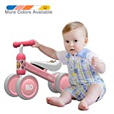 Ancaixin Baby Balance Bikes Bicycle Children Walker 10 Month - 24 Month Toys for 1 Year Old No Pedal Infant 4 Wheels Toddler Top First Birthday New Year Gift Pink Duck