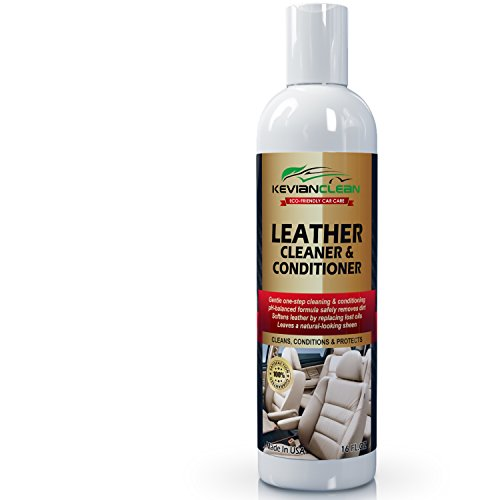 KevianClean Leather Cleaner & Conditioner - Auto Interior Detailing, Protect and Restore Genuine and Faux Leather Furniture, Sofa, Couch, Handbags, Shoes, Boots, Jacket, Car Seat Care - 16 oz.