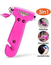 THINKWORK Car Safety Hammer Gift for Women, Three-in-One Emergency Escape Tool with Window Breaker and Seat Belt Cutter, Escape Hammer, Safety Emergency Car Escape Tool for Family, Women, Children.