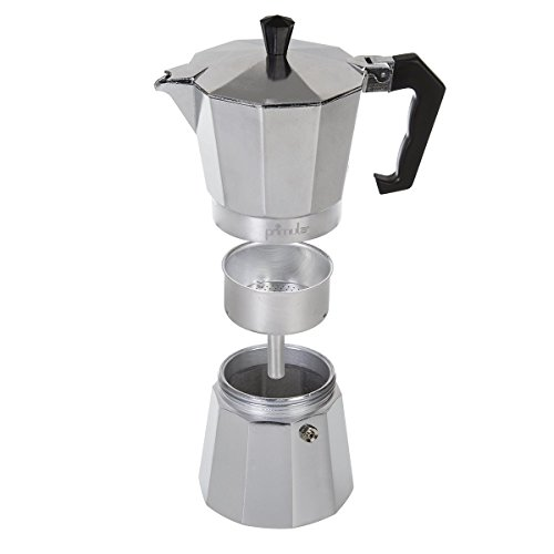 Primula Stovetop Espresso Coffee Maker - For Bold, Full Body Espresso – Easy to Use – Makes 6 Traditional Demitasse Cups