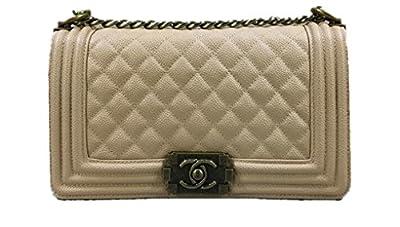Brown Chanel Beige single shoulder bag