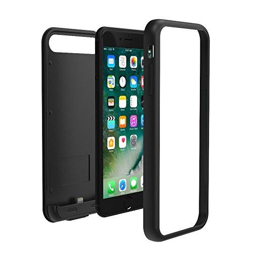 TAMO EDGE 3100 mAh Dual-Purpose Ultra-Slim Protective Extended Battery iPhone 7 Case, Matte Black (Premium Retail Packaging) by TAMO (Image #2)