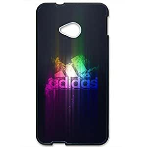 Unique Style Artistic Design Adidas Phone Case Cover for Htc One M7 3D Hard cover Case_Black and Red