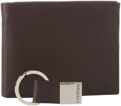 Calvin Klein Men's Leather Bifold Wallet w/ Key Fob