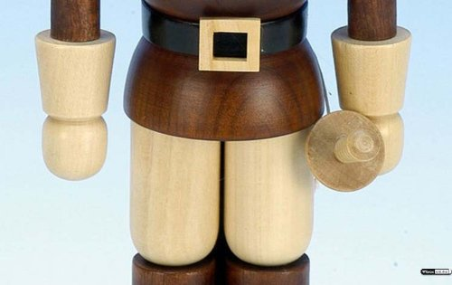 German Christmas Nutcracker Musketeer natural colors - 25,5 cm / 10 inch - Christian Ulbricht