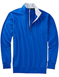 Mens Liquid Cotton 1/4 Zip Pullover