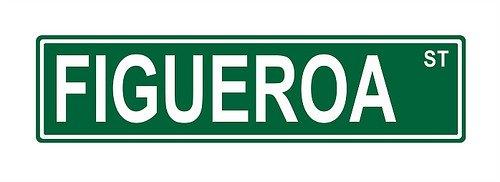 Figueroa Street - Figueroa St. Street Sign 24x6 funny joke humor novelty metal aluminum sign