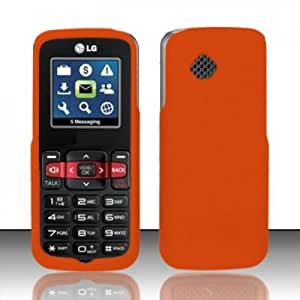 Hard Plastic Snap on Cover Fits LG Virgin PayLo VMLG 100 101 102 Orange Boost Mobile (Please carefully check your device model to order the correct version.)
