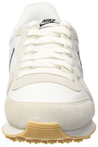 Nike Wmns Internationalist, Zapatos para Correr para Mujer Multicolor (Summit White/black/gum Yellow)