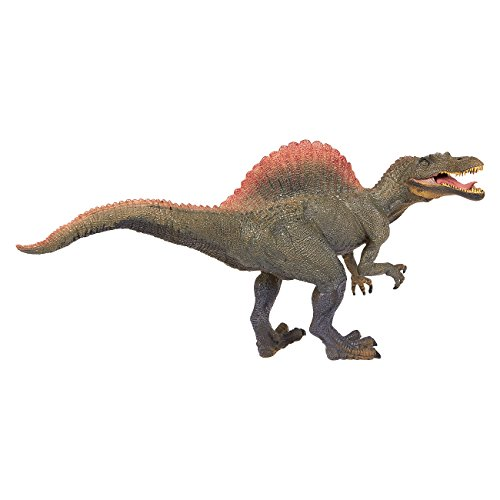 Dinosaur Toy Spinosaurus Figurine - Realistic Plastic Toy Dinosaur Figure for Children, Themed Parties, Decorations, Green - 11.5 x 6 x 3.5 Inches (Figurine Plastic Toy)