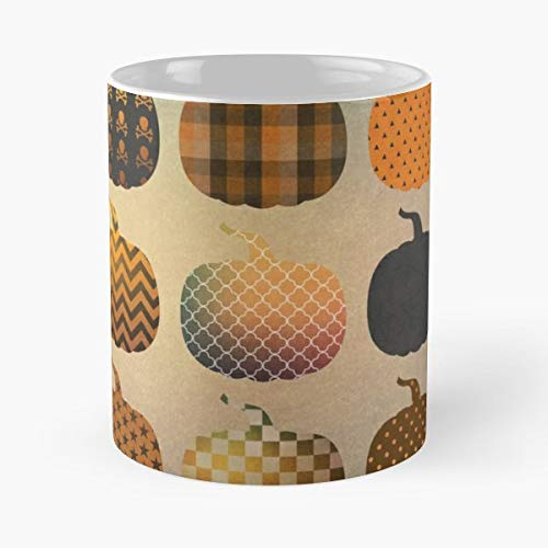 Halloween Pattern Background Phone - Best Gift Coffee Mugs Unique Ceramic Novelty Cup