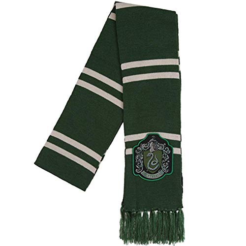 Harry Potter Slytherin Patch Knit Scarf, OSFM, Green