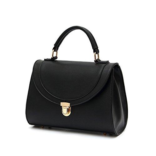 HNA Women's Top Handle Classic Flap Bag