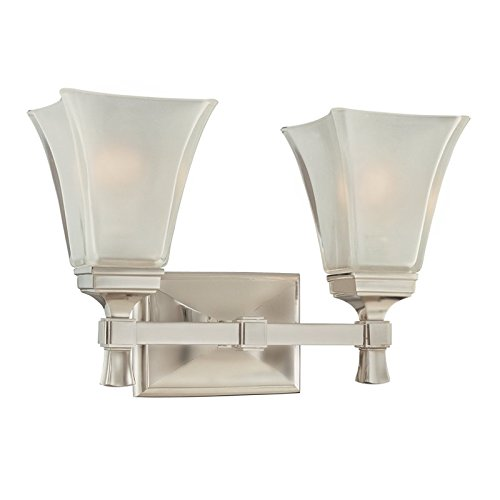 - Hudson Valley Lighting 1172-SN Two Light Bath Bracket from The Kirkland Collection, 2, Satin Nickel