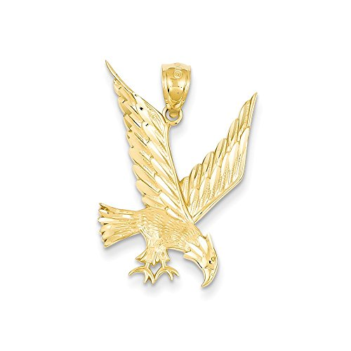 14k Gold D/C Eagle Pendant (1.1 in x 0.77 ()