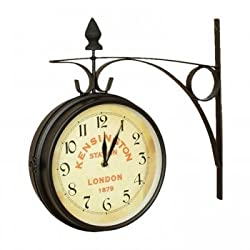 Nostalgic Kensington Station Double Side clock (Large)