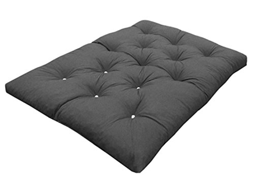 Grey Double   190cm x 125cm My Layabout Foam Crumb Futon Mattress   Roll Out Guest Bed   10 Colours   3 Sizes. (Double   190cm x 125cm, Grey)
