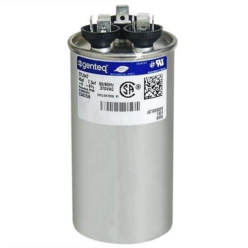 GE Genteq Capacitor Round 45//7.5 uf MFD 370 volt 97F9969BX 97F9969BZ2 97F9969BZ3