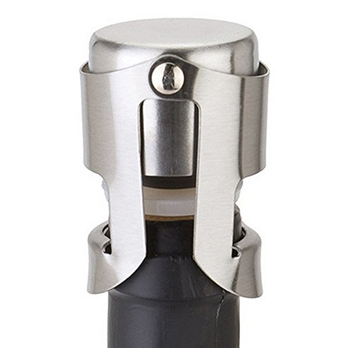 - Euone Plug Sealer, Stainless Steel Champagne Stopper Sparkling Wine Bottle Plug Sealer Convenient