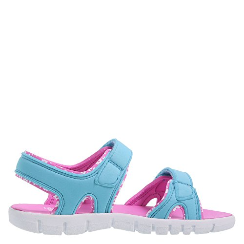 Image of Zoe and Zac Girl's Turquoise Parker Double Strap Sport Sandal Big Kid Size 4 Regular