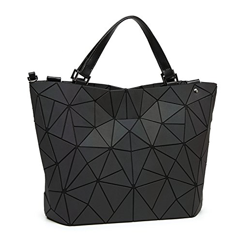 Handbag Bucket Bag Luminous Ladies Shoulder Gradual Messenger Large Luminous Bag Capacity Triangle Tote Bag Scrub large YOHSx0Y