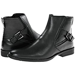 Calvin Klein Mens Leather Boots Winston Black F0610