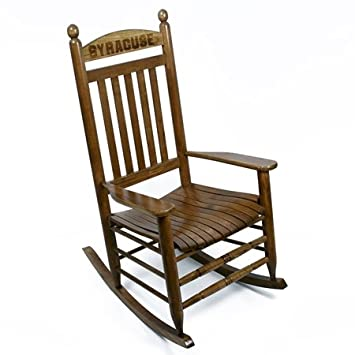 Syracuse Orange Rocking Chair   Maple Finish By Hinkle Chair Company