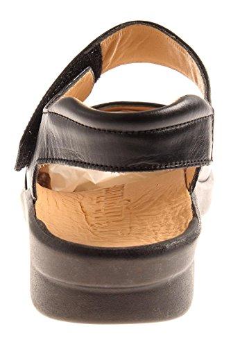 Damen Leder Schwarz Ledersandalen Nicobar Kathamag Highlander Comfort Sommer Schuhe Sandalen Hw0yZaxF1q