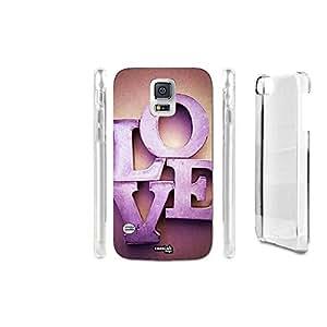 FUNDA CARCASA LETTERE LOVE AMORE PARA SAMSUNG GALAXY S5 G906S LTE-A