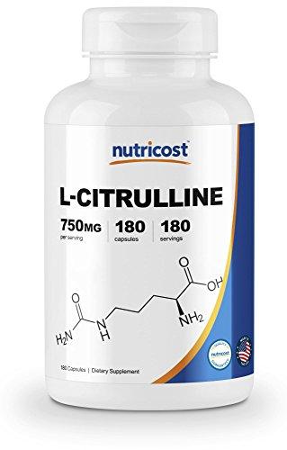 Nutricost L-Citrulline 750mg, 180 Capsules