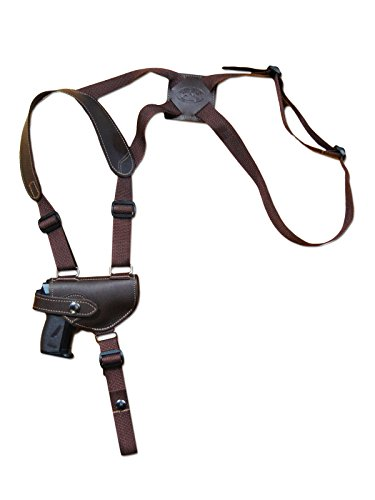 Barsony New Brown Leather Shoulder Holster for Walther PP PPK PPKS Right