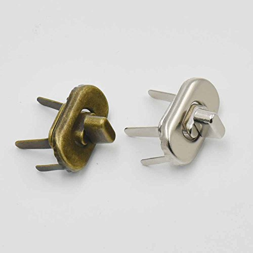8 Sets 20mm x 35mm Turn Button Latch Closure oval for Catch Tuck Leather Purse Bag hangbag -