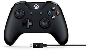 Microsoft 4N6-00001 Control para Xbox One/PC, Alámbrico e Inalámbrico, Windows 7/Windows 8.1, color Negro - Classics Edition