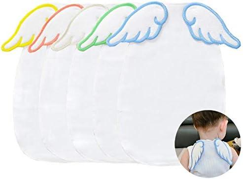8635468e824269 汗取りパッド ベビー-TMVOK あせとりパッド 赤ちゃん 4重ガーせ 5枚セット 天使の羽 かわいい動物 綿100% ベビーギフト 出産祝い