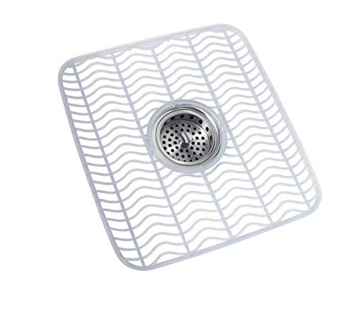 Rubbermaid Sink Mat, Medium, Clear FG129506CLR (Renewed)