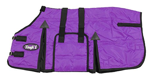 Pony Stable Blanket - Tough 1 600D Miniature Stable Blanket with Belly Wrap, Purple, 36-Inch