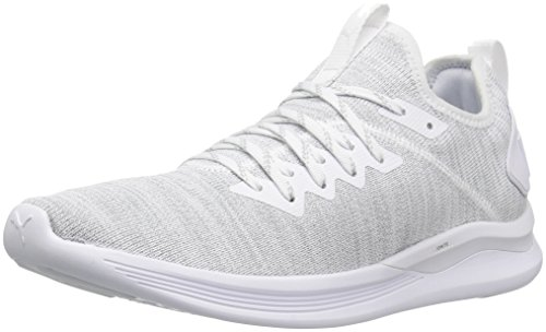 (PUMA Women's Ignite Flash Evoknit Sneaker, White, 8.5 M US)