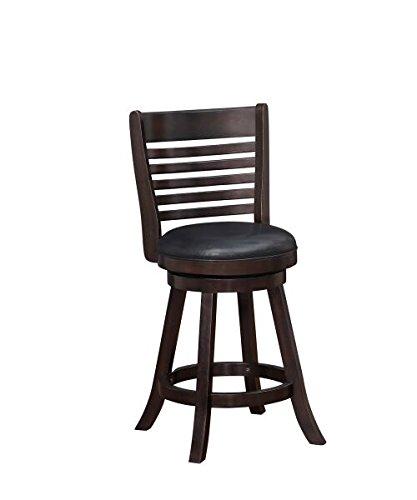 Boraam 03624 Tierra Counter Height Swivel Stool, 24-Inch, Merlot, 2-Pack - Merlot Bar Table